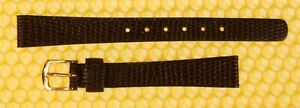 12mm SEIKO Leather Watch Strap Band BROWN Lizard-Grain MADE IN JAPAN <NWoT>