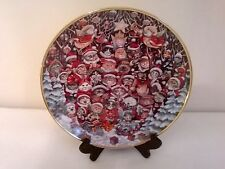 Franklin Mint Santa Claws by Bill Bell Christmas Plate Limited Edition Cats