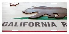CALIFORNIA State Flag Custom License Plate Bear Wood Emblem Version # 5