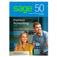 SAGE 50 4 USER Premium 2020-NOT SUBSCRIPTION-Download (DVD opt) INT'L Users ONLY