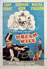 Original Dream Wife Movie Poster 1961 Cary Grant, Deborah Kerr, Sidney Sheldon