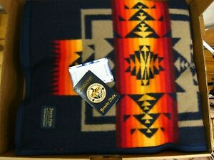 Pendleton Chief Joseph Blanket Robe Indigo 64x80 Made in USA!!