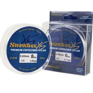 Snowbee XS Premium Copolymer Nylon Clear Leader 100m Spools Various Weights