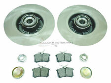 RENAULT GRAND SCENIC REAR BRAKE DISCS & PADS + FITTED WHEEL BEARINGS & ABS RINGS