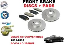 FOR LEXUS CONVERTIBLE SC300 SC400 91-00 FRONT BRAKE DISCS SET + BRAKE PADS KIT