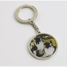 BORDER FINE ARTS READY AND WAITING COLLIE DOG KEYRING A9163 NEW AND BOXED