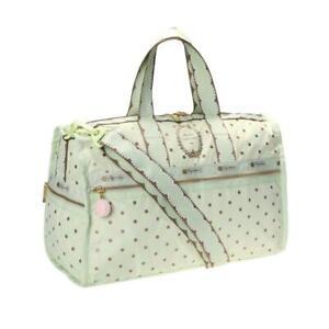 LeSportsac Laduree Collection Medium Weekender Duffel Bag in Pois Pistache NWT