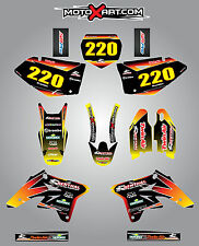 Suzuki RMZ 250  - 2007 / 2009 SUNRISE style stickers  Full Custom Graphic Kit