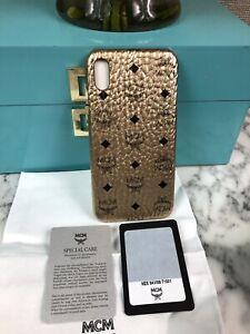 NIB MCM Champagne Gold iPhone XS Max Diamond Phone Case