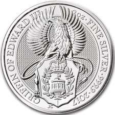 2017 Great Britain Queens Beast Griffin 2 oz .9999 Fine Silver Coin