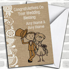 Burlap & Lace Wedding Blessing Customised Card