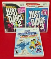 Just Dance 2, 3, Smurfs Dancing Games Nintendo Wii Game  1-4 players Complete