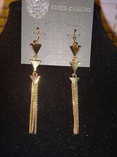 VINCE CAMUTO~WOMEN'S~GOLD TONE LONG CHAIN EARRINGS ~C401101