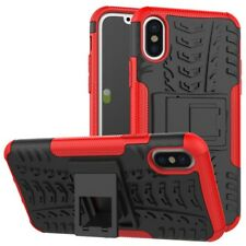 Neuf HYBRID COQUE 2 Pièces Extérieur Rouge pour Apple iPhone x 5.8 pouces