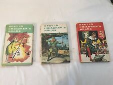 Best in Children's Books lot of 3 Vintage Doubleday 1958 & 1961 With Dust Covers