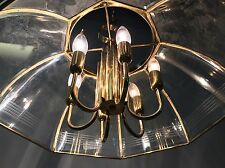 * Vintage UFO Chandelier Hanging Fixture Atomic Sputnik Danish Light Mid Century