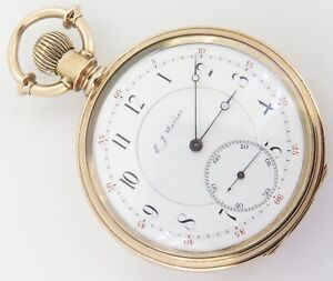 .A Wonderful C.1879 Elgin 16s 21J Grade 72 Convertible 14K Gold Pocket Watch