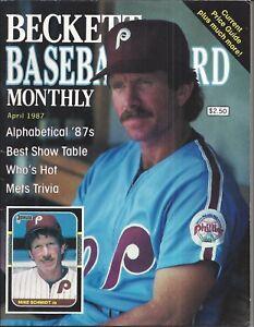 Vintage Mike Schmidt Beckett Baseball Price Guide April, 1987 + 18 Cards