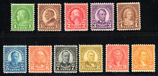 US MNH F/VF VF XF set of 11 perf 11x10.5 Rotary 1926 631-642 631 42 omit 634a
