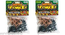 (2) Army Command 25 Pieces Soldiers Men Green Tan Military Toy Gift 50 Bag of