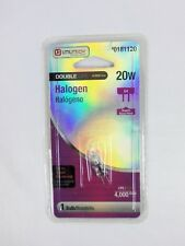 Utilitech 20W Halogen 12V G4 Double Life Bulbs 0181120 Bi-Pin Volt Watt