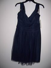 Women's Gather & Gown Navy Formal Dress - Size 14 - 2 layers of lace - NEW