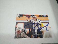 TOM BRADY New England Patriots 2008 UPPER DECK AUTO SIGNED CARD