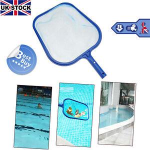 Swimming Pool Skimmer Flat Leaf Debris Hot Tub Koi Pond Skimmer Net Handheld