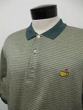THE MASTERS AUGUSTA NATIONAL BOBBY JONES green yellow golf polo shirt M mens#504
