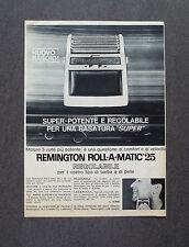 H946- Advertising Pubblicità - 1963 - REMINGTON RASOIO ELETTRICO ROLL-A-MATIC 25