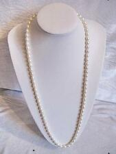 classic 32 inch 7-8mm Akoya white pearl necklace