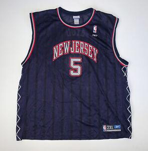 Vintage Reebok Jason Kidd New Jersey Nets Jersey Size 2XL NBA Basketball