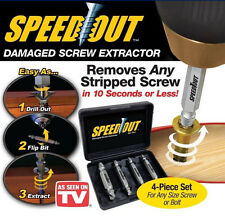 4pcs Steel Broken Speed Out Damaged Screw Extractor Drill Bit Remover Guide Set