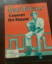 Hank Williams 1950 Country Hit Parade Song Book Sheet Music Excellent