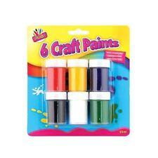 6 Pots Craft Paints - Non Toxic Painting Children Crafts Child Poster Art - 25ML