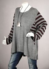 PREMIUM QUALITÄT Tunika Pullover Longpullover Bluse Shirt Strick Wolle 50 52 54