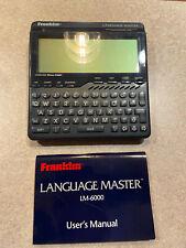 Franklin Language Master Lm-6000 Speaking Dictionary Thesaurus Grammar Guide