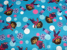 DORA THE EXPLORER BUBBLES & BLOSSOMS CP46885 on FLANNEL COTTON Price By The YARD