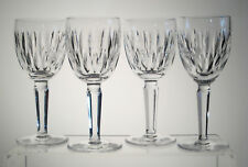 "MAUREEN WATERFORD Tall Claret Wine Glasses 6 1/2"", Signed, SET of FOUR"