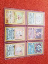 6x Base Set Pokemon Holo Cards - EX/NM - Chansey/Mewtwo/Poliwrath/Clefairy!