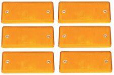 6 X Genuino Ifor Williams Naranja/Ámbar lado rectángulo reflector-P0696