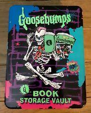 1996 Hershey Goosebumps Rare Collectible Tin Book Storage  w/4 Goosebumps BOOKS