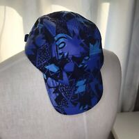 Snapback Hat All Over Print Retro Blue Bold 90s Theme