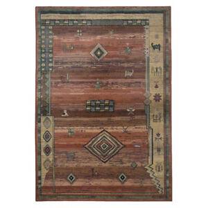 Rug 60 x 90cm Woven Terracotta Rug Theko Rug 403171 NEW (I)