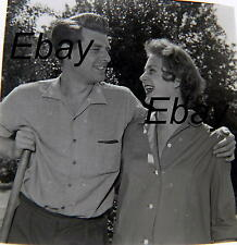 More details for b/w 6x6 negative 1950s english actor richard and peggy coleman