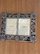 "METAL FLOWERS DOUBLE PHOTO FRAME 7""x5"""