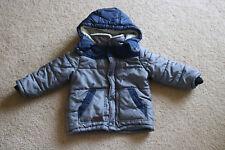 Ben Sherman Baby Boys Fleece Hooded Jacket Blue / Grey Green Size 2T