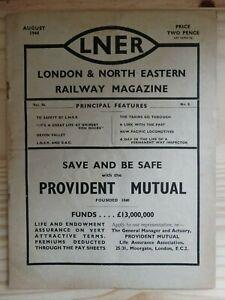 Vintage 'London & North Eastern Railway' Magazine (August 1944) VG
