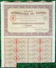 Indochine Ep. Coloniale & Paris VII ème - Belle Frise Cie Minière au Tonkin 1923