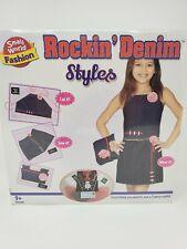 "Kids Sewing Craft Kit ""Rockin Denim Styles"" by Small World Fashion New"